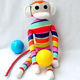 Hračky - opička-pásikáčik - 4843600_