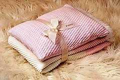 """Textil - Teplá deka do kočíka a postieľky,""""PinkEye"""", OEKO-TEX®, Smotanovo-ružová - 4841845_"""
