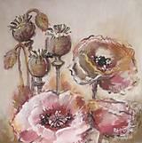 Obrazy - Živé kvety - 4842135_