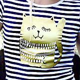 Tričká - Tričko pruhované DLHÝ RUKÁV s potlačou na výber - 4840820_
