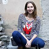 Tričká - Tričko pruhované DLHÝ RUKÁV s potlačou na výber - 4840823_