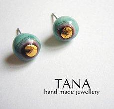 Náušnice - Tana šperky - keramika/zlato - 4844353_