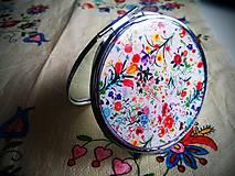 Zrkadielka - Zrkadielko kabelkové s kvetmi - 4845193_