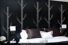 Dekorácie - Kmene stromov - dekoratívna nálepka na stenu - 4840576_