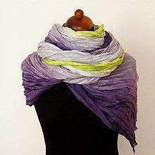 Šály - Inspirativní fialová...hedvábná šála 90x200 - 4842286_