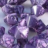 - Sklenená korálka Marmo violetto - 4848086_