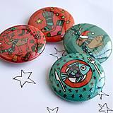 Odznaky/Brošne - Vianočné buttony malé (37mm) - 4848062_