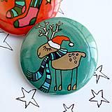 Odznaky/Brošne - Vianočné buttony malé (37mm) - 4848066_