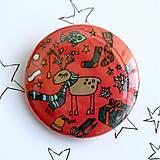 Odznaky/Brošne - Vianočné buttony malé (37mm) - 4848067_