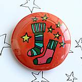Odznaky/Brošne - Vianočné buttony malé (37mm) - 4848068_