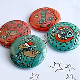 Odznaky/Brošne - Vianočné buttony veľké (58mm) - 4848080_