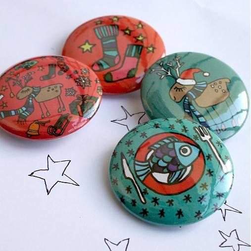 Vianočné buttony malé (37mm)