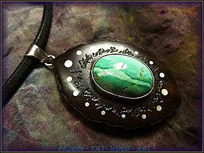 Náhrdelníky - 418. Drevený náhrdelník ORECH - TYRKYSMexiko - 4849998_