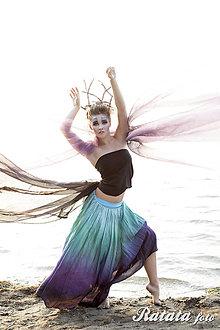 Sukne - Jsem Jezerní královna...hedvábná sukně - 4846192_