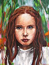 Obrazy - Terezka v bielych šatách - obraz na stenu, maľba, originál - 4854016_