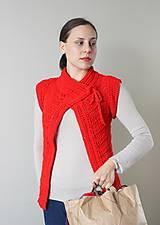 Iné oblečenie - Háčkovaná vesta- červená - 4852277_