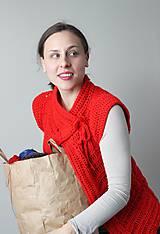 Iné oblečenie - Háčkovaná vesta- vianočná  - 4852279_