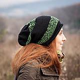 Čiapky - Prúžkovaná zeleno čierna - 4851405_