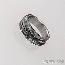 Prstene - Kovaná obrúčka damasteel - Pán vod - produkt 1154 - 4850111_
