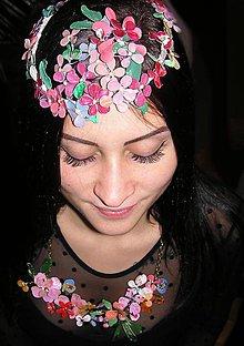 Ozdoby do vlasov - LEL flowers fascinátor- venček - 4851974_