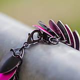 Náramky - Šupináč Pink striped skunk - náramok - 4853149_