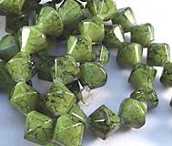 Korálky - Sklenená korálka Marmo olivado - 4851067_