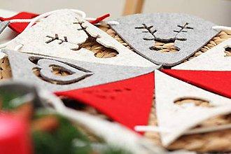 Dekorácie - Vianočné BUBAKove vlajky - 4852782_