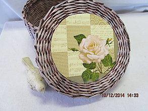 Košíky - Ruža - 4852994_