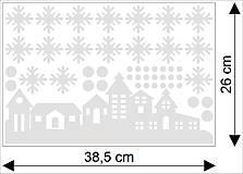 Dekorácie - NS25 Nálepka na okno - ZIMNÁ KRAJINA - 4852163_