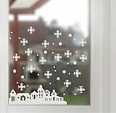 Dekorácie - NS25 Nálepka na okno - ZIMNÁ KRAJINA - 4852164_