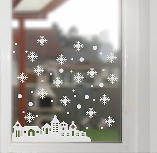NS25 Nálepka na okno - ZIMNÁ KRAJINA
