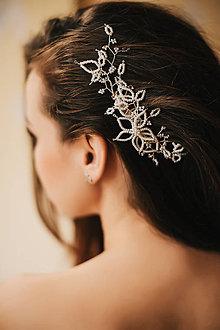 Ozdoby do vlasov - Svadobná ozdoba do vlasov, maslový ozdobný hrebienok - 4850830_