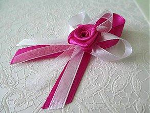 Pierka - svadobné pierka s ružičkou - 4853216_