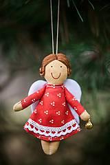 Dekorácie - Anjeliček maličký s rolničkou - 4850871_
