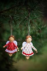 Dekorácie - Anjeliček maličký s rolničkou - 4850872_
