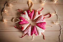 Dekorácie - Vianočné srdiečko - 4850904_