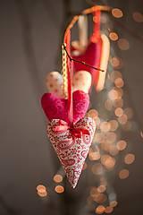 Dekorácie - Vianočné srdiečko - 4853049_