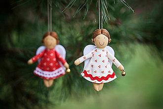 Dekorácie - Anjeliček maličký s rolničkou - 4850873_
