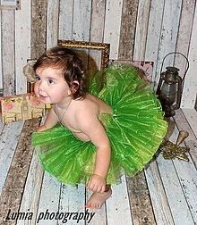 Detské oblečenie - zelenučké tutu - 4853487_