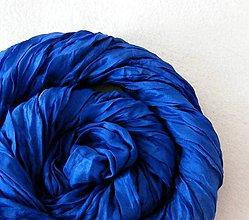Šály - Královská modrá...hedv.šála 55x200 - 4850387_