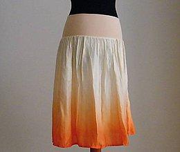 Sukne - Krátká meruňková....hedvábná sukně - 4850456_