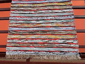Úžitkový textil - Pestrý - červený pásik - 4852813_
