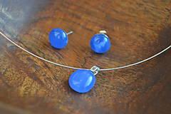 Sady šperkov - Modrá súpravička - 4854546_