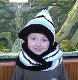 Detské doplnky - Zamatový kapucošál - 4854942_