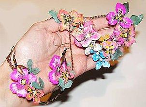 Náhrdelníky - vintage set náhrdelník a náušnice - 4855552_