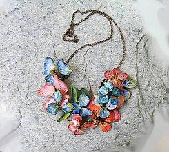 Náhrdelníky - vintage exotic flowers náhrdelník - 4855639_