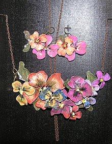 Sady šperkov - vintage set náhrdelník a náušnice II. - 4855761_