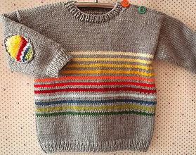 Detské oblečenie - FROM YOU: Pásikavý svetrík - 4856295_