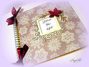 Papiernictvo - Elegantná vianočná vločka SKLADOM - 4857405_