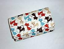 Peňaženky - Peňaženka - Milujeme mačičky :-) - 4854250_